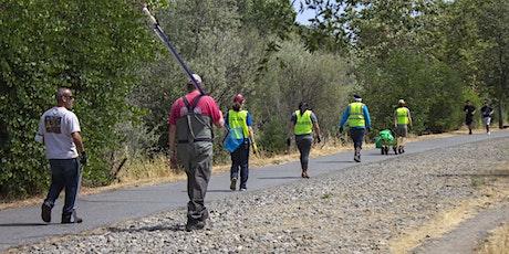 Cleanup on Los Gatos Creek - San Fernando Bridge - VTA Bridge tickets