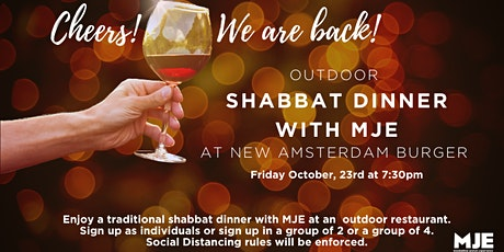 MJE West Outdoor Shabbat Dinner at Amsterdam Burger tickets