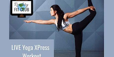 Mondays 12pm PST LIVE Zen Zone XPress: 30 min Yoga Stretch @ Home Workout tickets