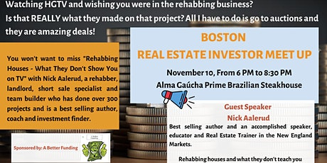 Boston Real Estate Investor Meet Up tickets