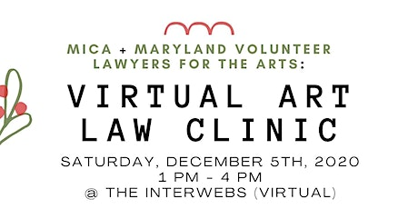 Virtual Art Law Clinic, December 2020! tickets