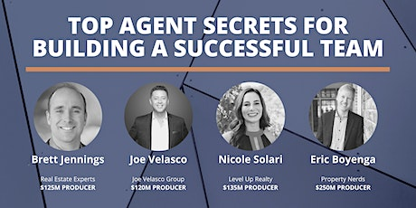 Top Agent Panel: You Want To Build a Real Estate Team? tickets