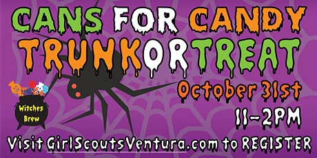 Cans for Candy Drive Thru Trunk or Treat tickets