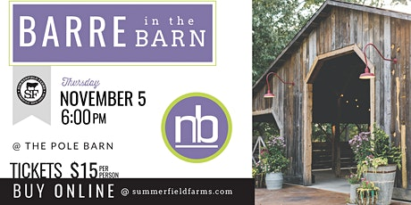 Barre in the Barn tickets