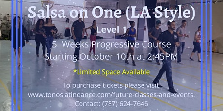 Salsa on One (LA Style) - Level 1 (5 Weeks Progressive Course) tickets