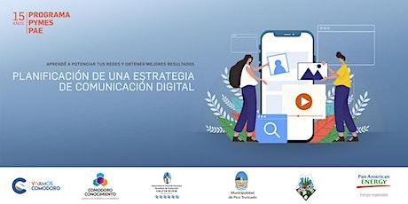 Programa Pymes PAE  Planificación de una estrategia de comunicación digital boletos
