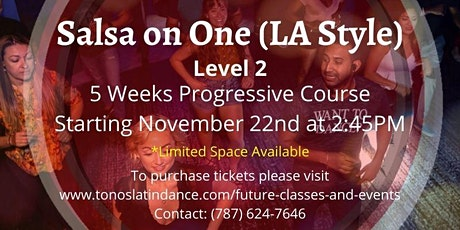 Salsa on One (LA Style) - Level 2 (5 Weeks Progressive Course) tickets