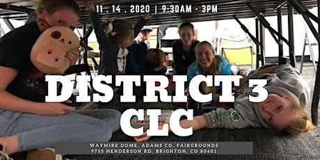 District 3 Colorado Leadership Camp (CLC) tickets