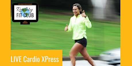 Thursdays 8am PST LIVE Cardio Xpress:30 min Fat Burning Cardio Home Workout entradas