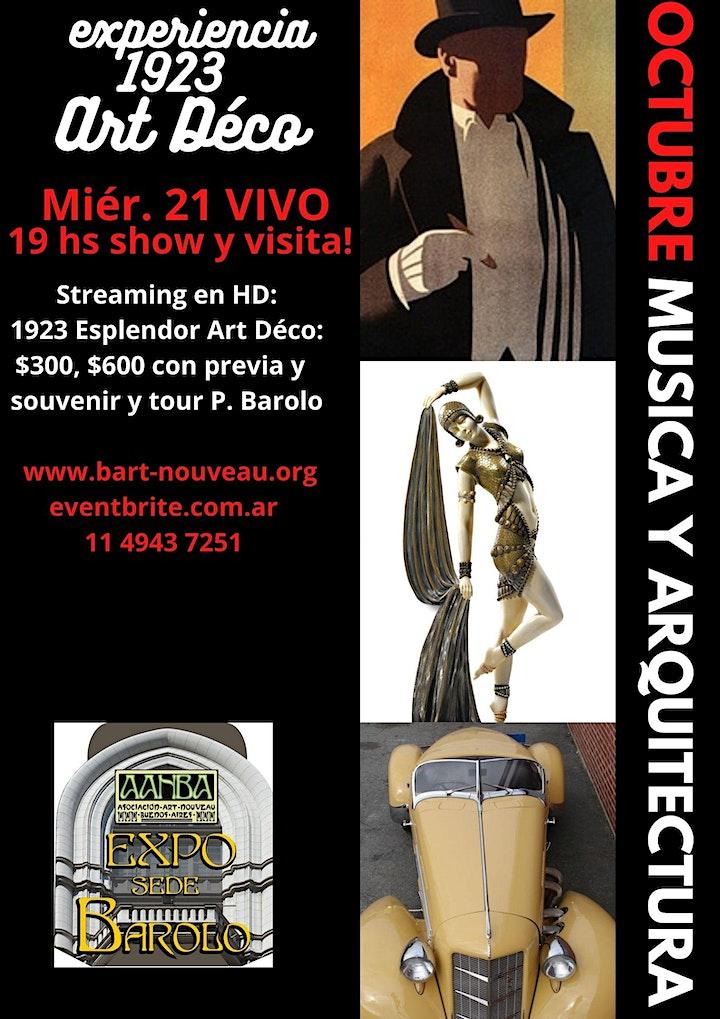 Imagen de 1923: La Gran Noche del Art Déco VIVO en P. Barolo: Show, tour y souvenir