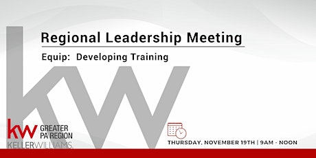 Regional Leadership Meeting and Vital Signs Training - Equip! tickets