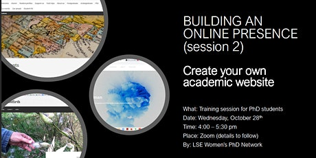 Creating your own academic website : a step-by-step workshop tickets