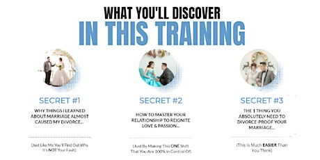 How You Can Stop Your Divorce & Save Your Marriage With This Framework! tickets