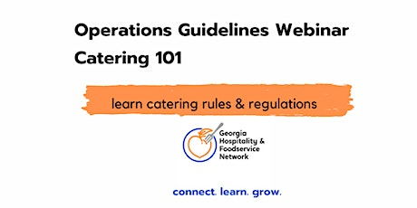 Catering 101 Operations Guidelines  Webinar tickets