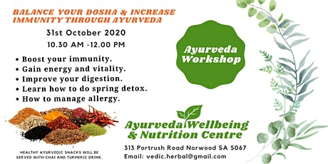 Balance  your Dosha and Increase your Immunity through Ayurveda tickets