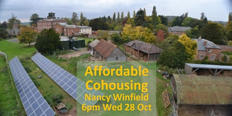 Nancy Winfield: How can 'Affordable' Cohousing be delivered? 6pm Wed 28 Oct tickets