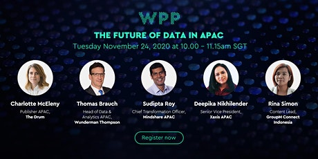 WPP: The Future of Data in APAC tickets