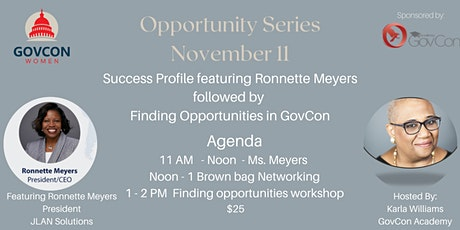 Finding GovCon Opportunities FY21 tickets