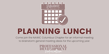 NAWIC Columbus: Planning Meeting tickets