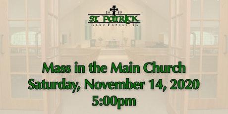 St. Patrick Church Mass, Saturday, November 14 at 5:00pm tickets
