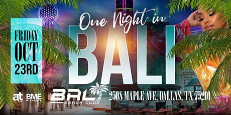 One Night In BaliFridays tickets