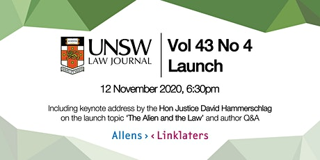 UNSW Law Journal 43(4) Launch tickets