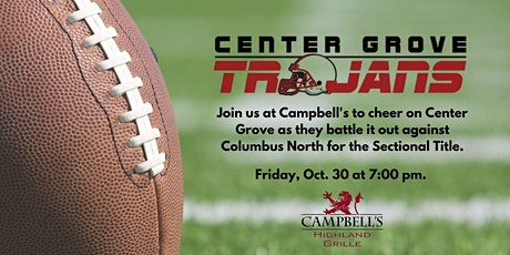 Center Grove Football Watch Party at Campbell's - Playoffs Edition tickets