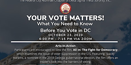 Your Vote Matters! - What YOU Need To Know Before You Vote in DC tickets