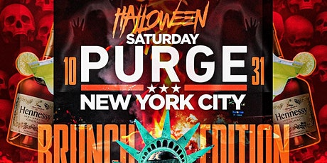 Halloween Saturday Brunch day party NYC Purge tickets
