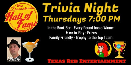 Trivia Night - Downtown Hall of Fame, Hutto, Texas - Free to Play tickets