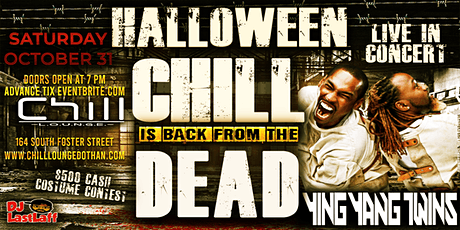 Ying Yang Twins Live Halloween Night at Chill Lounge Dothan tickets