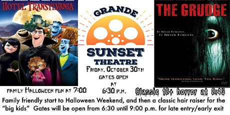 Halloween Weekend Double Feature  -Fri. Oct. 30  Grande Sunset Theatre tickets