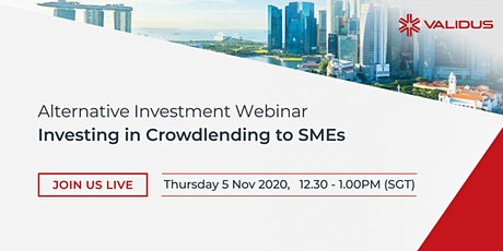 Alternative Investment Webinar: Crowdlending to SMEs tickets