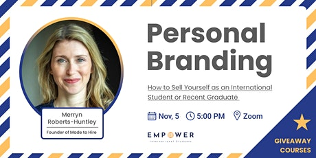 Personal Branding: How to Sell Yourself as an International Student tickets
