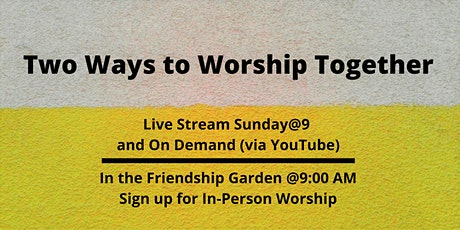 Sunday@9   November 1st  In-Person Worship Service