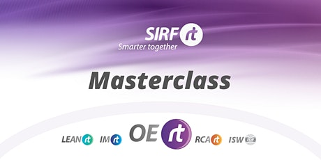 SIRF OERt Masterclass | How to Effectively Train Plant Operators tickets