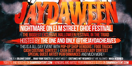 JAYDAWEEN : NIGHTMARE ON ELM STREET HALLOWEEN FESTIVAL tickets