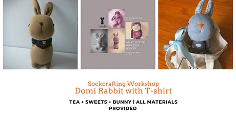Sock Crafting - Domi Rabbit with T-shirt tickets