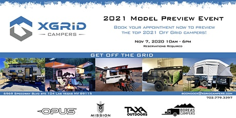 XGRiD Campers 2021 Model Preview Event tickets