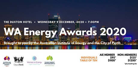 WA Energy Awards 2020 tickets