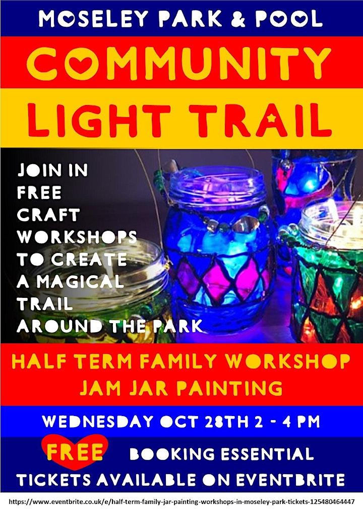 Half Term Family Jar Painting Workshops in Moseley Park image
