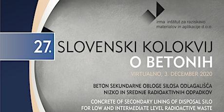 27. SLOVENSKI KOLOKVIJ O BETONIH / Concrete of secondary lining of disposal tickets