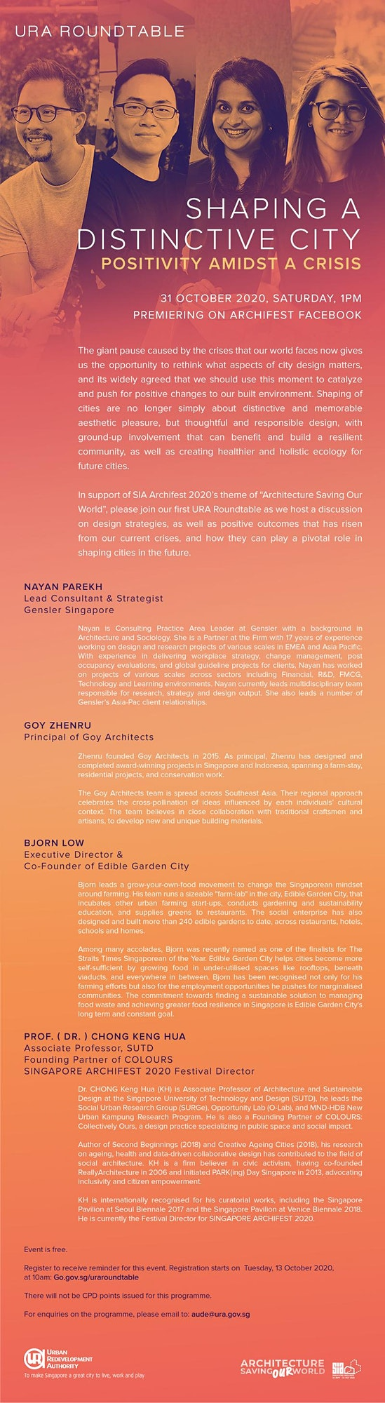 URA ROUNDTABLE - Shaping a Distinctive City: Positivity Amidst a Crisis image
