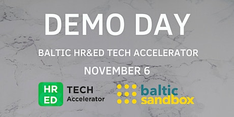 Demo Day of the Baltic HR&ED Tech Accelerator tickets