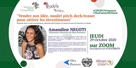 """""""Vendre son idée, model pitch deck/teaser pour attirer les investisseurs"""" tickets"""