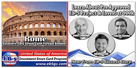 Rome EB-5 American Green Card Virtual Market Series tickets