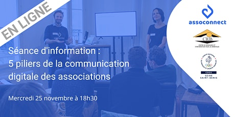 Séance d'info : 5 piliers de la communication digitale des associations billets