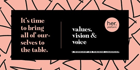 Values, Vision & Voice tickets