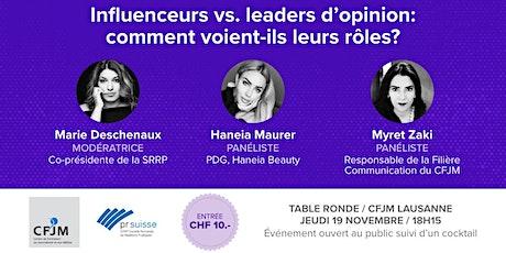 Influenceurs vs. leaders d'opinion: comment voient-ils leurs rôles? billets