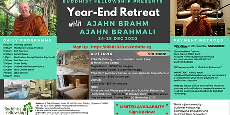 Year-End Retreat with Ajahn Brahm and Ajahn Brahmali via Zoom tickets